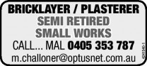 Bricklayer / Plasterer