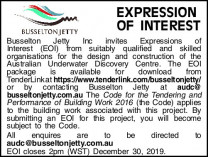 Tenders - Busselton Jetty EOI