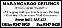 Marangaroo Ceilings