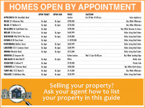 Homes Open By Appointment