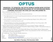 Optus Mobile Phone Base Station Upgrade